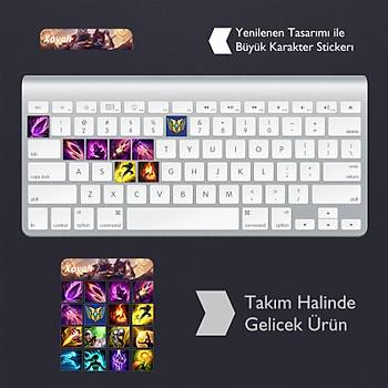 Xayah: Klavye Sticker Set
