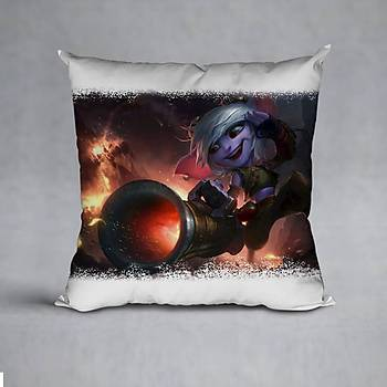 League Of Legends Tristana Baskýlý Yastýk (ELYAF DOLGULU)