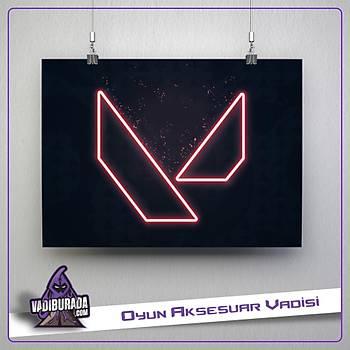 Neon Logo : Valorant Poster