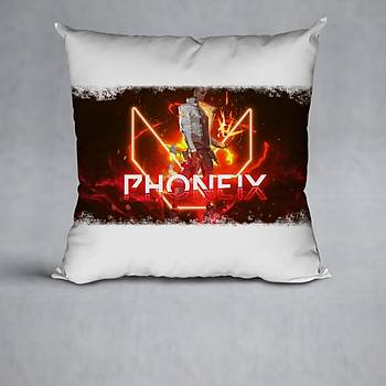 Valorant Model Phoenix Baskýlý Yastýk (Elyaf Dolgulu)