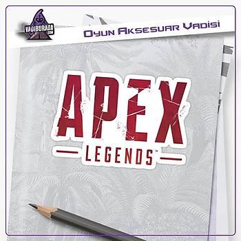 Apex Legends Kýrmýzý Logolu Sticker (2 adet)