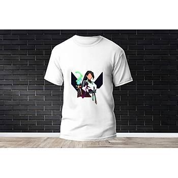 Sage Baskýlý Model 8  T-Shirt