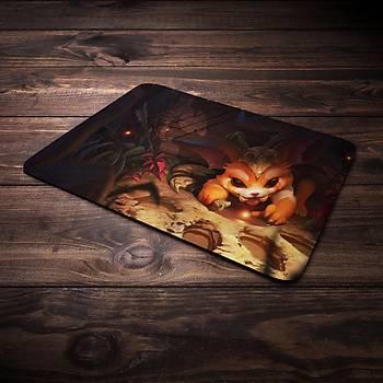 League Of Legends Gnar Þampiyon Baskýlý Mousepad (BÜYÜK GAMEPAD)