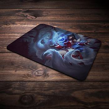 League Of Legens Ahri Þampiyon Baskýlý Mousepad (BÜYÜK GAMEPAD)