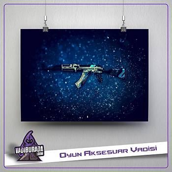 CSGO : Blue Ak Poster