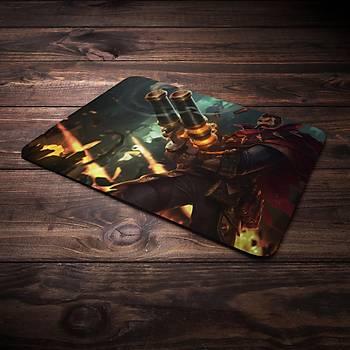 League Of Legends Graves Þampiyon Baskýlý Mousepad (BÜYÜK GAMEPAD)