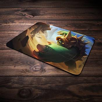 League Of Legends Rammus Þampiyon Baskýlý Mousepad (BÜYÜK GAMEPAD)