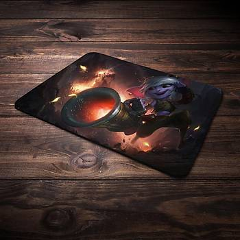 League Of Legens Tristana Þampiyon Baskýlý Mousepad (BÜYÜK GAMEPAD)