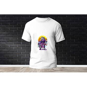 Skye Baskýlý Model 11  T-Shirt