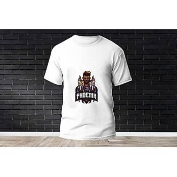 Phoenix Baskýlý Model 4  T-Shirt
