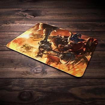 League Of Legends Rumble Þampiyon Baskýlý Mousepad (BÜYÜK GAMEPAD)