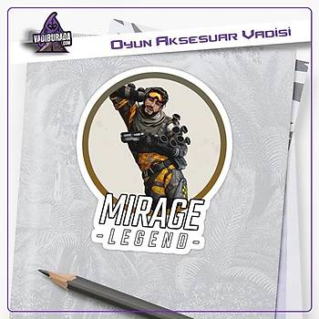Apex Legends Mirage Logolu Sticker (2 adet)