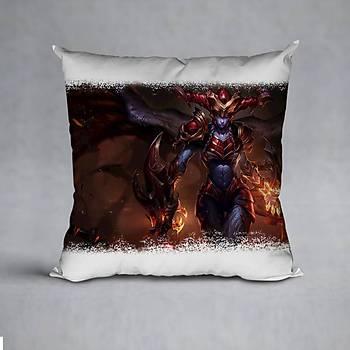 League Of Legends Shyvana Baskýlý Yastýk (ELYAF DOLGULU)