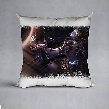 League Of Legends Orianna Baskýlý Yastýk (ELYAF DOLGULU)