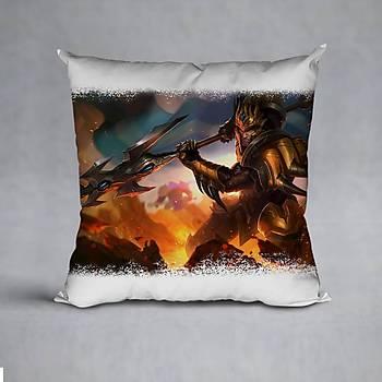 League Of Legends JarvanIV Baskýlý Yastýk (ELYAF DOLGULU)