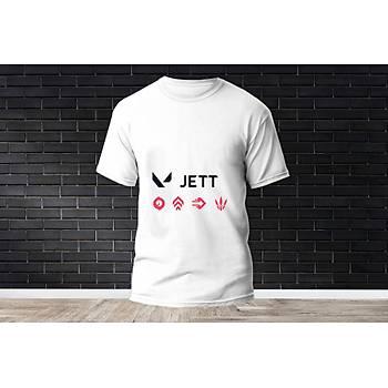 Jett Baskýlý Model 7  T-Shirt