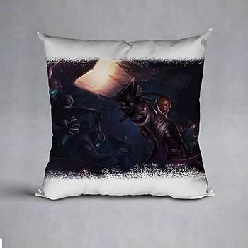 League Of Legends Lucian Baskýlý Yastýk (ELYAF DOLGULU)