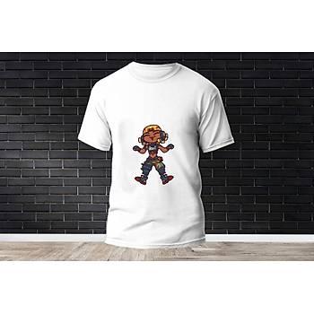 Raze Baskýlý Model 25  T-Shirt