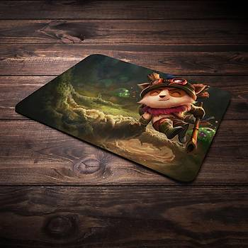 League Of Legends Teemo Þampiyon Baskýlý Mousepad (BÜYÜK GAMEPAD)