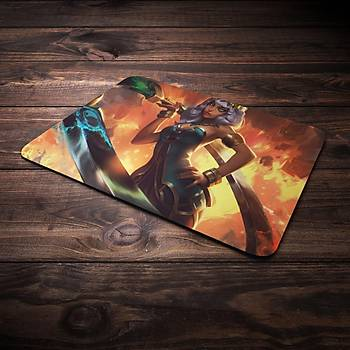 League Of Legens Qiyana Þampiyon Baskýlý Mousepad (BÜYÜK GAMEPAD)