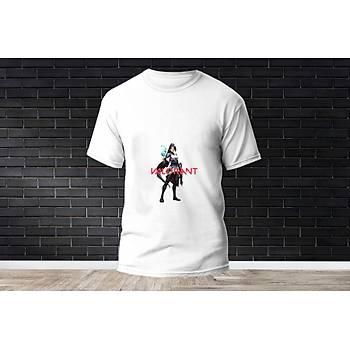 Sage Baskýlý Model 9  T-Shirt