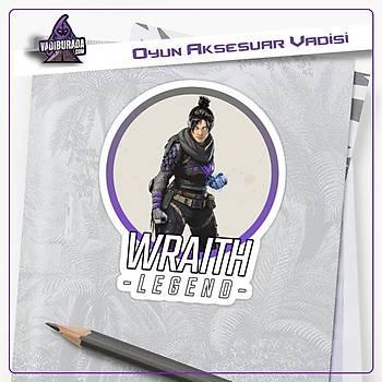 Apex Legends Wraýth Logolu Sticker (2 adet)
