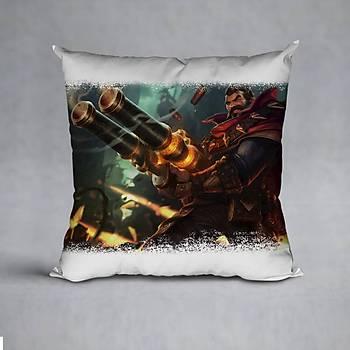 League Of Legends Graves Baskýlý Yastýk (ELYAF DOLGULU)