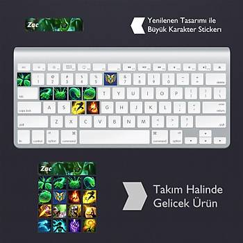 Zac: Klavye Sticker Set