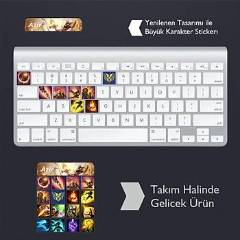 Azir: Klavye Sticker Set