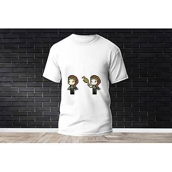Skye Baskýlý Model 13  T-Shirt
