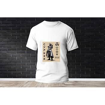 Cypher Baskýlý Model 6  T-Shirt