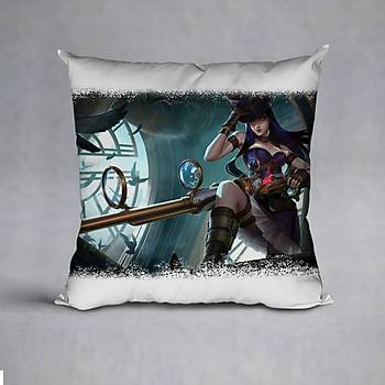 League Of Legends Caitlyn Baskýlý Yastýk (ELYAF DOLGULU)