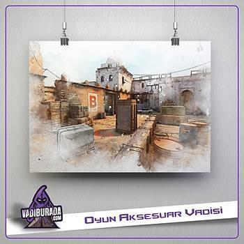 CS:GO : Dust 2 Map Poster