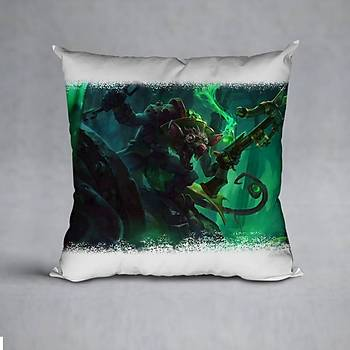 League Of Legends Twitch Baskýlý Yastýk (ELYAF DOLGULU)
