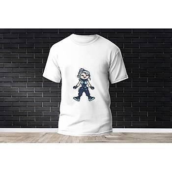 Jett Baskýlý Model 1  T-Shirt