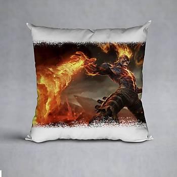 League Of Legends Brand Baskýlý Yastýk (ELYAF DOLGULU)