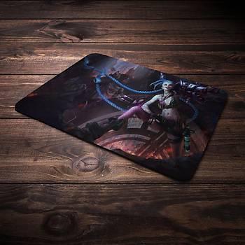 League Of Legends Jinx Þampiyon Baskýlý Mousepad (BÜYÜK GAMEPAD)