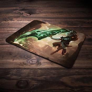 League Of Legends Riven Þampiyon Baskýlý Mousepad (BÜYÜK GAMEPAD)