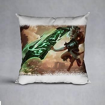 League Of Legends Riven Baskýlý Yastýk (ELYAF DOLGULU)
