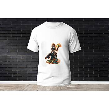 Raze Baskýlý Model 10  T-Shirt