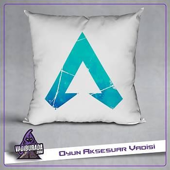 Apex Legends Mavi Parça Logolu Yastýk