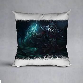 League Of Legends Karthus Baskýlý Yastýk (ELYAF DOLGULU)