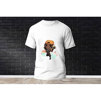 Raze Baskýlý Model 9  T-Shirt