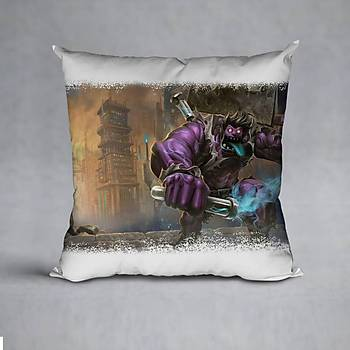 League Of Legends DrMundo Baskýlý Yastýk (ELYAF DOLGULU)