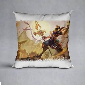 League Of Legends Azir Baskýlý Yastýk (ELYAF DOLGULU)