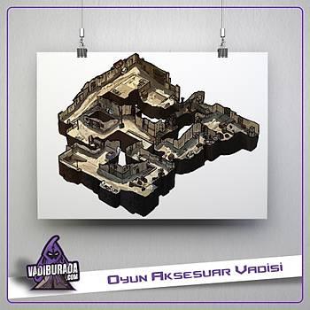 CS:GO : Dust 2 Kroki Map Poster