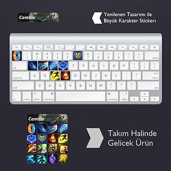 Camille: Klavye Sticker Set