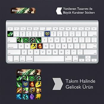 Riven: Klavye Sticker Set