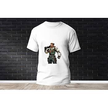 Breach Baskýlý Model 14  T-Shirt