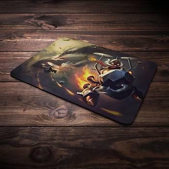 League Of Legends Corki Þampiyon Baskýlý Mousepad (BÜYÜK GAMEPAD)